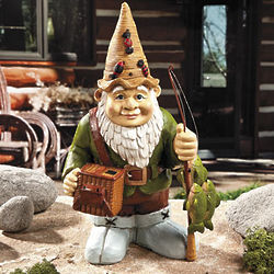 Fishing Gnome Garden Statue