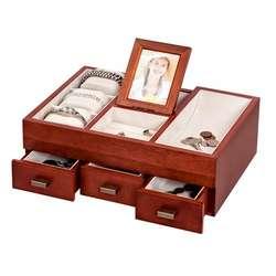 Dresser Top Valet in Antique Walnut Finish