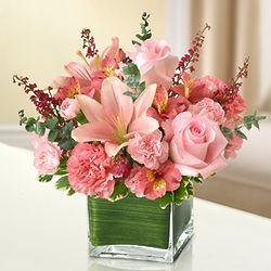 Pink Healing Tears Funeral Flowers