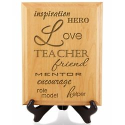 Wooden Teacher Plaque