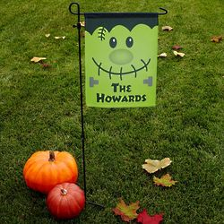 Frankenstein Personalized Happy Haunting Garden Flag with Stake