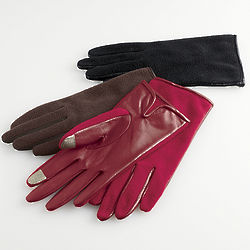 Sheepskin Microfleece Gloves with Touch Sensors