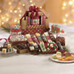 Christmas Cheese and Snacks Gift Tower