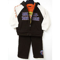 Harley Davidson 3-Piece Newborn and Infant Bodysuit