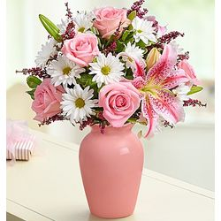 Mother's Embrace Pink Floral Arrangement