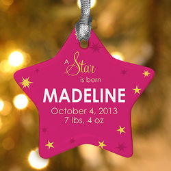 Star is Born Personalized Ornament