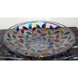 Handpainted Colorful Centerpiece Bowl