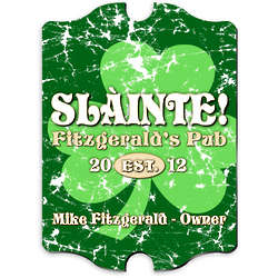 Personalized Vintage Jolly Green Shamrock Pub Sign
