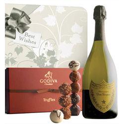 Wedding Bells Dom Perignon & Godiva Truffles