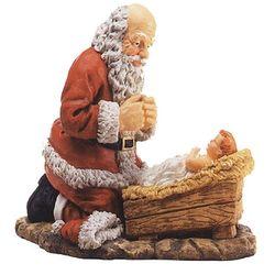Kneeling Santa Figure