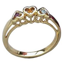 Sister's Birthstone Heart Ring