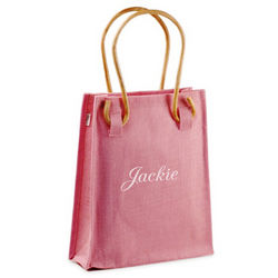 Pretty in Pink Jute Bag