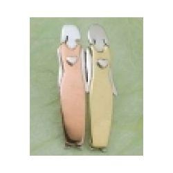 2 Sisters Pin in German Silver