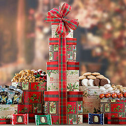 Nostalgic Holiday Gift Tower