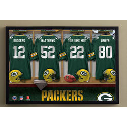 NFL Football Personalized Green Bay Packers Locker Room Print