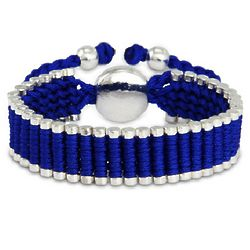 Royal Blue Linked Engravable Friendship Bracelet