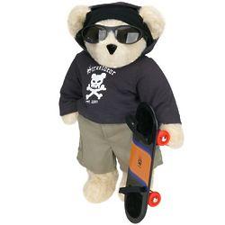 "15"" Skateboarder Teddy Bear"
