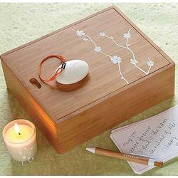 Birthday Blessings Bamboo Keepsake Box