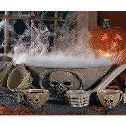 Skull Punch Bowl Set