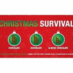 Christmas Survival Chocolate Bar