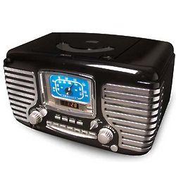 Black Corsair Clock Radio with CD Player