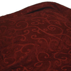 Chenille Red Bed Throw Blanket