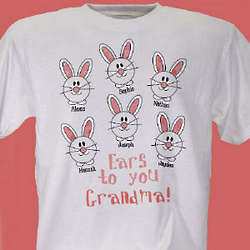 Personalized Ears to You Easter Bunny Shirt