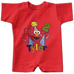 Personalized Elmo Birthday T-Romper