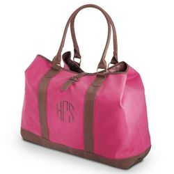 Embroidered Mighty Pink Tote