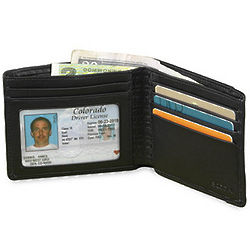 Leather RFID Billfold Wallet