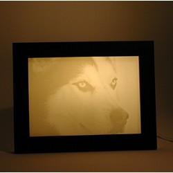 Peronalized Lithophane Pet Lovers Dog Photo Light