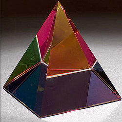 Multi-Color Crystal Pyramid Award