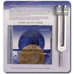 Mid-Ohm (Om) Tuning Fork Kit With CD