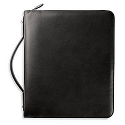 "Day-Timer Folio 2"" Zippered Leather Binder"