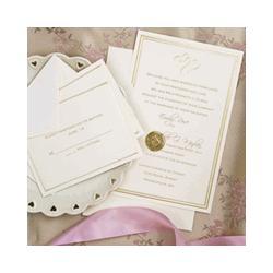 Gold Hearts Wedding Invitation Kit