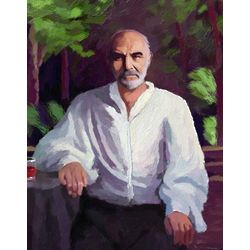 Sean Connery Oil Painting Print