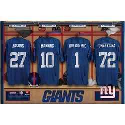 Personalized NFL New York Giants Locker Room 12x18 Print