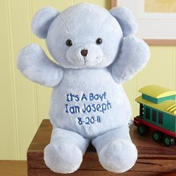 Personalized My First Furry Friend Plush Blue Bear