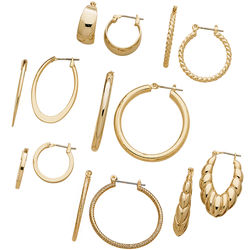 7 Pair Hoop Earrings
