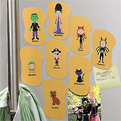 Personalized Halloween Character Refrigerator Magnet