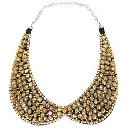 Champagne Crystal Peter Pan Collar Necklace
