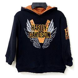 Harley Davidson Winged Boy's Hoodie