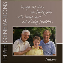 Generations Personalized Custom Photo 12x12 Canvas