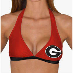 Women's Georgia Bulldogs Swim Halter Top