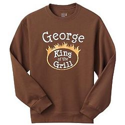 Personalized King of the Grill Sweatshirt