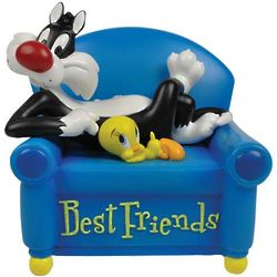 Tweety and Sylvester Best Friends Musical Figurine
