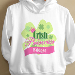 Little Irish Princess Toddler Hooded Sweatshirt