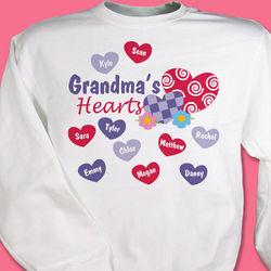 My Hearts Personalized Sweatshirt