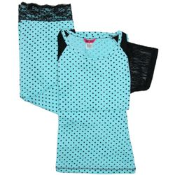 Polka Dot and Lace Sleep Set