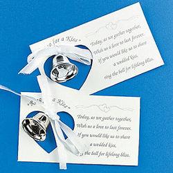 Silver Wedding Bell Token Card Set